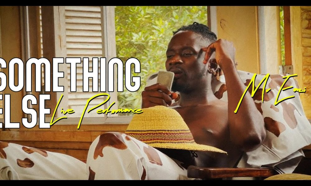 """Watch this Live Performance of """"Something Else"""" EP by Mr Eazi"""