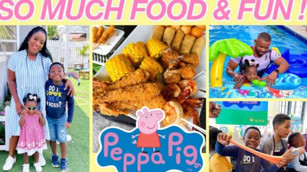 Peppa Pig Party + Swimming Lessons - Sisi Yemmie & the Kids had So Much Fun