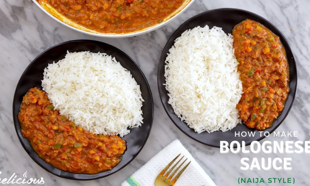 Here's a Bolognese Sauce (Naija Style) Recipe from Zeelicious You Should Try